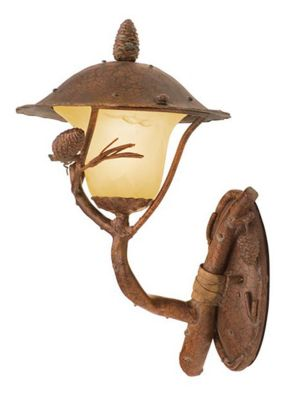 Ponderosa 1-Light Outdoor Wall Lantern - Ponderosa