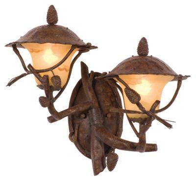 Ponderosa Left-Facing 2-Light Outdoor Wall Lantern - Ponderosa