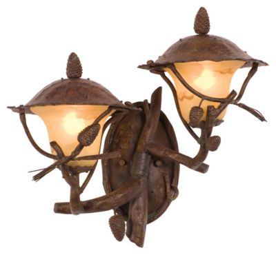 Ponderosa Right-Facing 2-Light Outdoor Wall Lantern - Ponderosa