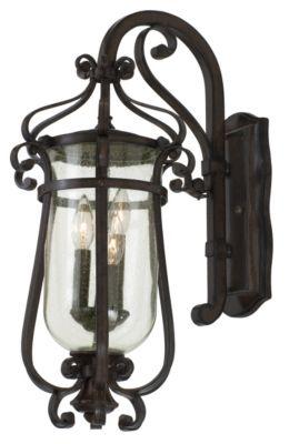 Hartford 3-Light Outdoor Wall Lantern - Burnished Bronze