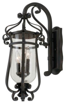 Hartford 3-Light Outdoor Wall Lantern - Antique Copper