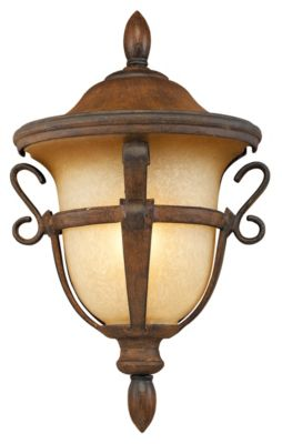 Tudor 1-Light Outdoor Wall Mount - Walnut