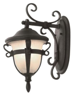 Tudor 2-Light Outdoor Wall Lantern - Textured Matte Black