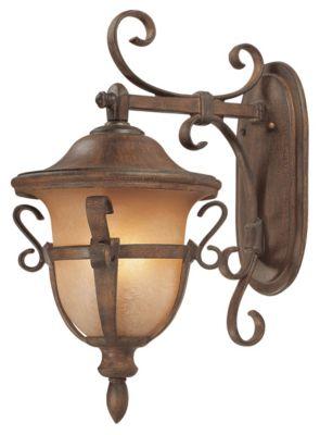Tudor 3-Light Outdoor Wall Lantern - Walnut