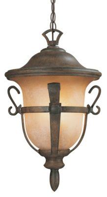 Tudor 3-Light Outdoor Hanging Lantern - Walnut