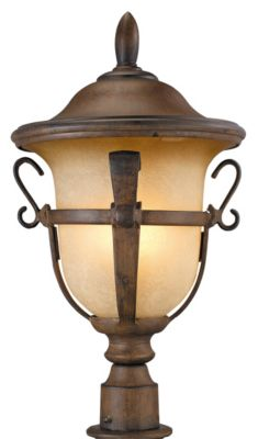 Tudor 4-Light Outdoor Post Lantern - Walnut