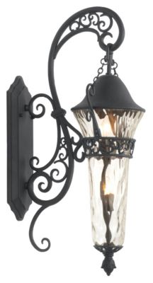 Anastasia 2-Light Outdoor Wall Lantern - Textured Matte Black