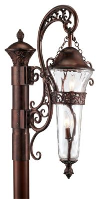 Anastasia 2-Light Outdoor Post Lantern -  Burnished Bronze