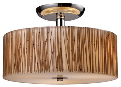 Modern Organics 3-Light Semi-Flush Mount