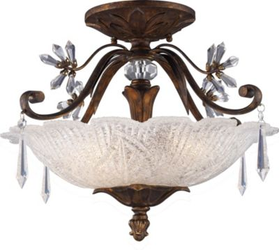 Emilion 3-Light Semi-Flush Mount