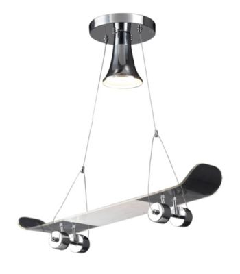 Children's 1-Light Skateboard Pendant