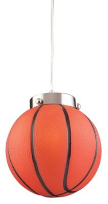 Children's 1-Light Basketball Pendant