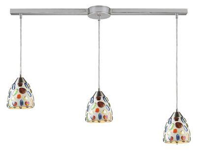 Gemstone 3-Light Linear Bar Pendant