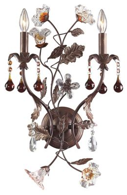 Cristallo Fiore 2-Light Wall Sconce