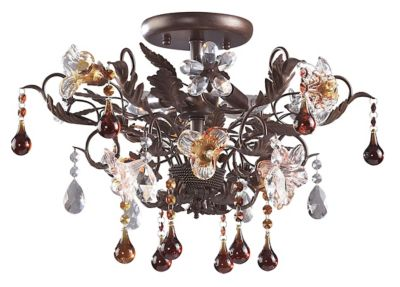 Cristallo Fiore 3-Light Semi-Flush Mount