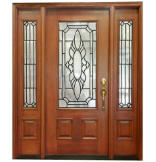 Versailles 3/4 Lite Door with Matching Sidelites, 4-9/16