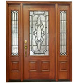 Versailles 3/4 Lite Door with Matching Sidelites, 6-9/16