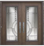 Woodgrain Fiberglass Belfast Door with 6-9/16