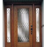 Woodgrain Fiberglass New York Door with 6-9/16