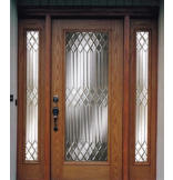 Woodgrain Fiberglass New York Door with 4-9/16