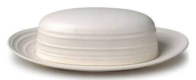 Mikasa® Swirl White Covered Butter Tray