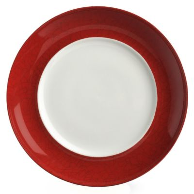 Mikasa® Pure Red Crackle Rim Accent Plate