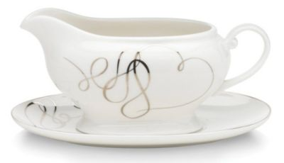 Mikasa® Love Story 16 oz 2-Piece Gravy Boat with Stand