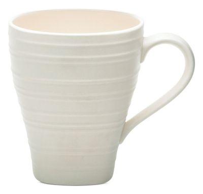 Mikasa® Swirl Square White 15 oz Mug