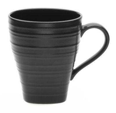 Mikasa® Swirl Square Black 15 oz Mug