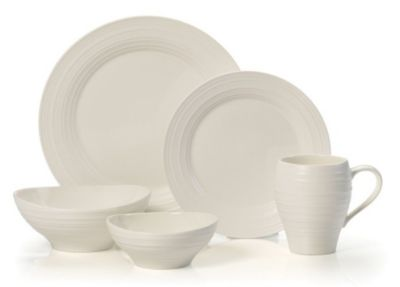 Swirl White Ironstone 20 Piece Set