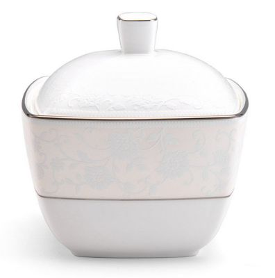 Mikasa® Venetian Lace Square Covered Sugar Bowl