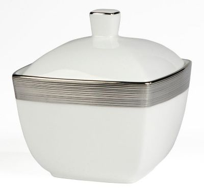 Mikasa® Ridge Square Covered Sugar Bowl