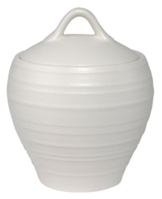 Mikasa® Swirl White Covered Sugar Bowl