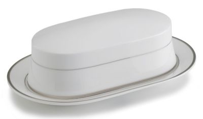 Mikasa® Cameo Platinum Fine China Covered Butter Tray