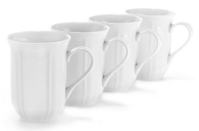 Mikasa® Antique White Fine China 12 oz. Mugs - Set of 4
