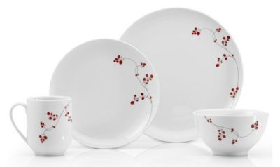 Gourmet Basics by Mikasa® Red Berries 16 Piece Dinnerware Set
