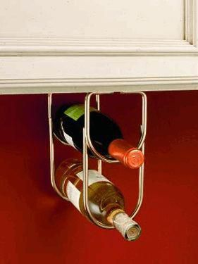 Double Bottle Rack - Brass