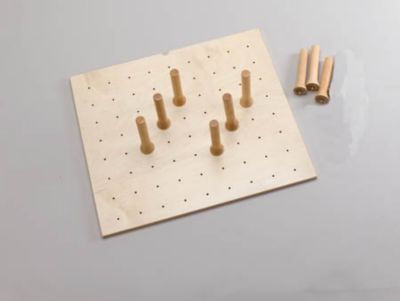 Small Drawer Peg System with 9 Pegs