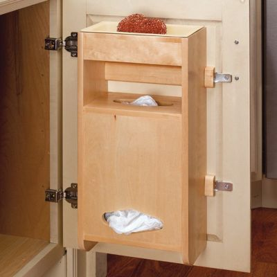 Sink Base Door Storage Wood Grocery Bag Holder for Base 15
