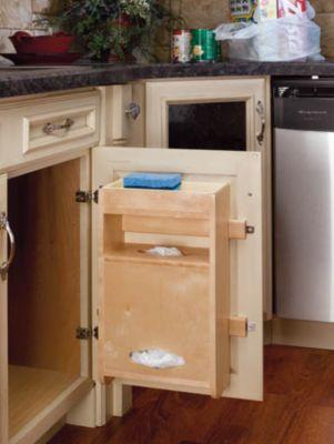 Sink Base Door Storage Wood Grocery Bag Holder for Base 18