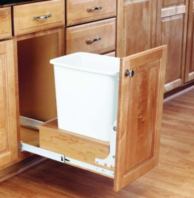 35-Quart Pull-Out Waste Container Set with Full-Extension Slides