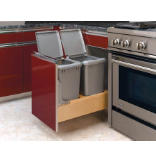 Rev-A-Motion™ 35-Quart Double Bottom-Mount Pull-Out Waste Containers