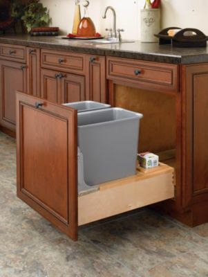 Rev-A-Motion™ 30-Quart Double Bottom-Mount Pull-Out Waste Containers