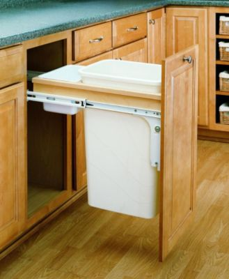 50-Quart Pull-Out Top Mount Waste Container Set with 1-1/2