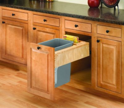 Rev-A-Motion™ 35-Quart Top-Mount Wood Pull-Out Waste Container