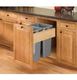 Rev-A-Motion™ 50-Quart Double Top-Mount Pull-Out Waste Containers