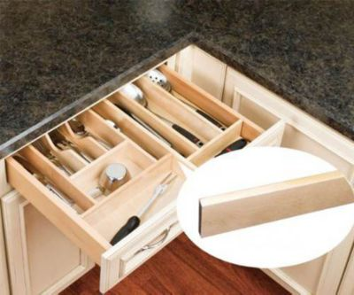 Shallow Wood Utility Tray Divider