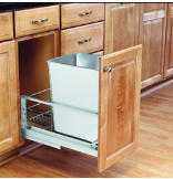 32-Quart Pull-Out Waste Container Set - Stainless Steel