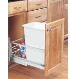 35-Quart Pull-Out Waste Container Set - White