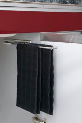 2-Prong Pull-Out Towel Bar - Chrome